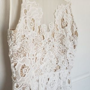 Cream and Lace Party dress